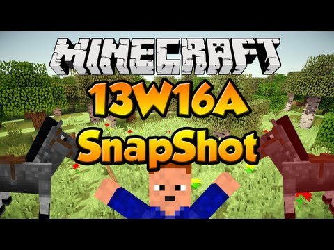 Minecraft Snapshot 13W16A - Horses, Carpets, Hay Bales and MOAR!