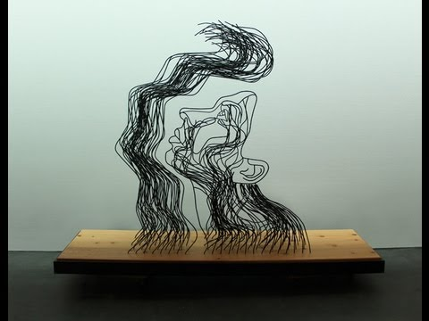 And Light Fell On Her Face Through Heavy Darkness -- Steel sculpture by Gavin Worth