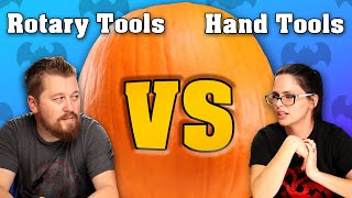 Rotary Tools VS Hand Tools - Who Can Carve A Better Pumpkin?