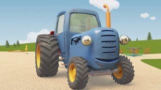 Развивающие мультики про машинки | Синий Трактор Гоша | Лёгкое и тяжёлое, или Застрявший мячик