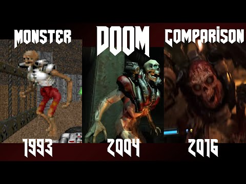 Doom 1993 - 2016 : Monster Comparison