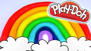 Play-Doh Perfect Beautiful Rainbow How to Make Easy!