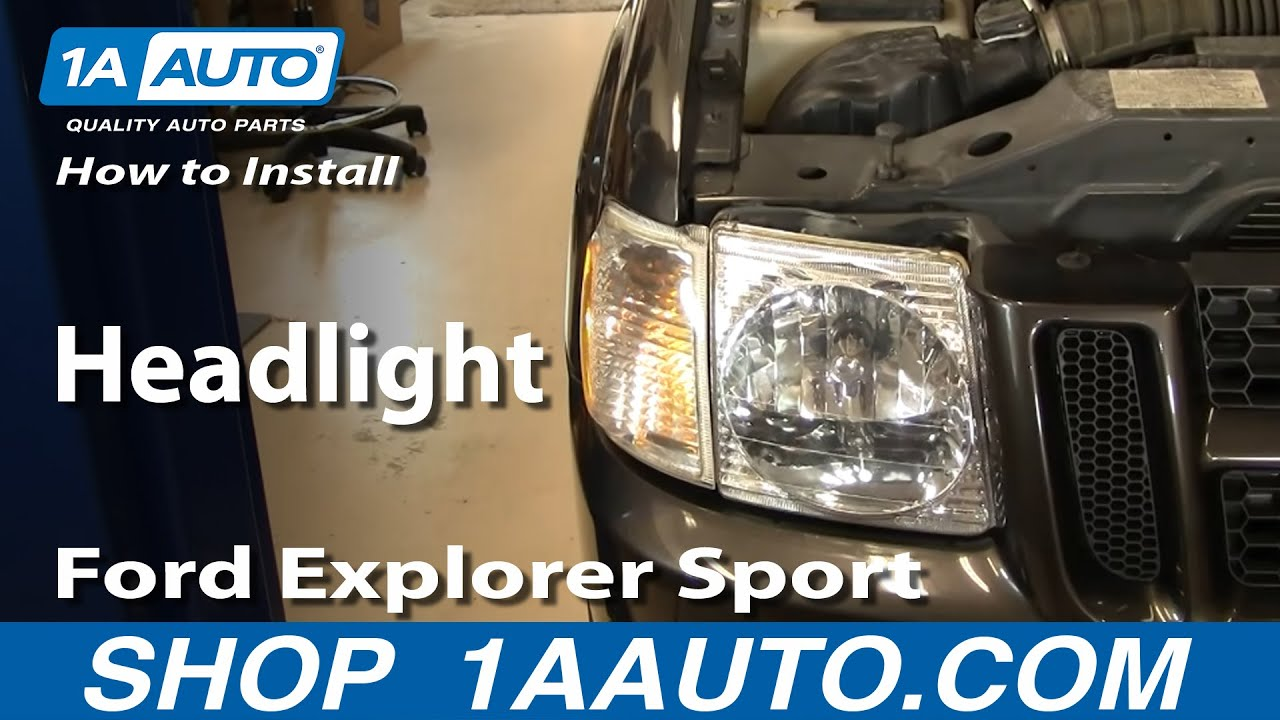 How To Install Replace Headlight Ford Explorer Sport Trac