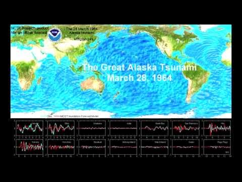 Alaska Tsunami, March 28, 1964 (with model validation)