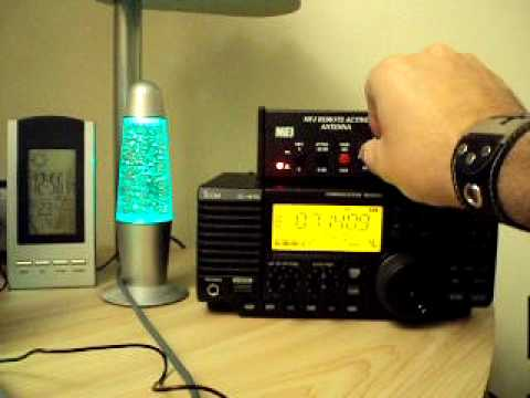 www.RadioScannerAntenna.com // Icom IC-R75 radio  review with active antenna MFJ-1024