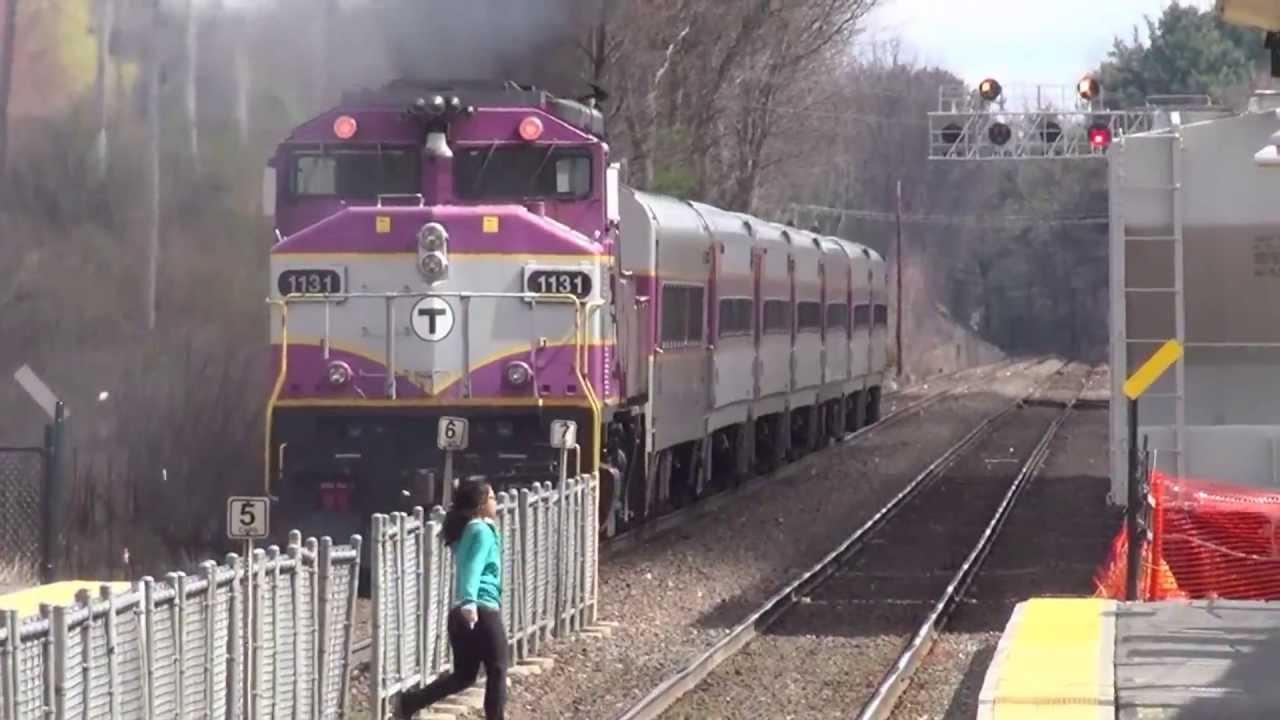 Leominster Mbta Commuter Train 1131 Inbound To Boston