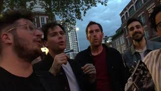 Arkells // Leather Jacket // 10-5-2018 On the street in London