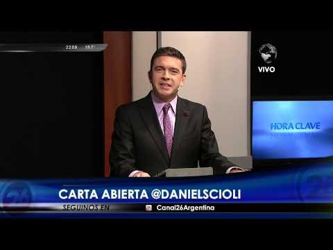 """Editorial """"Carta abierta @DanielScioli"""" de P.Rossi en """"Hora Clave"""", con M.Grondona - 18/08/15"""