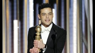 Rami Malek wins best actor at Golden Globes