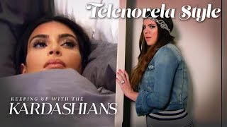 Kim Rages After Khloé Ruins Her Sleep (Escandaloso) | KUWTK Telenovelas | E!