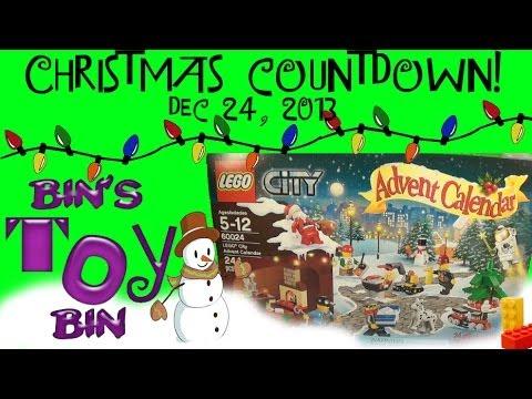 2013 Christmas Countdown Day #24! Lego Advent Calendar - Dec...
