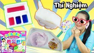 THÍ NGHIỆM MÀU SẮC - SỦI BỌT - KEM NERUNERU ( Popin Cookin Candy Neru Experiment )