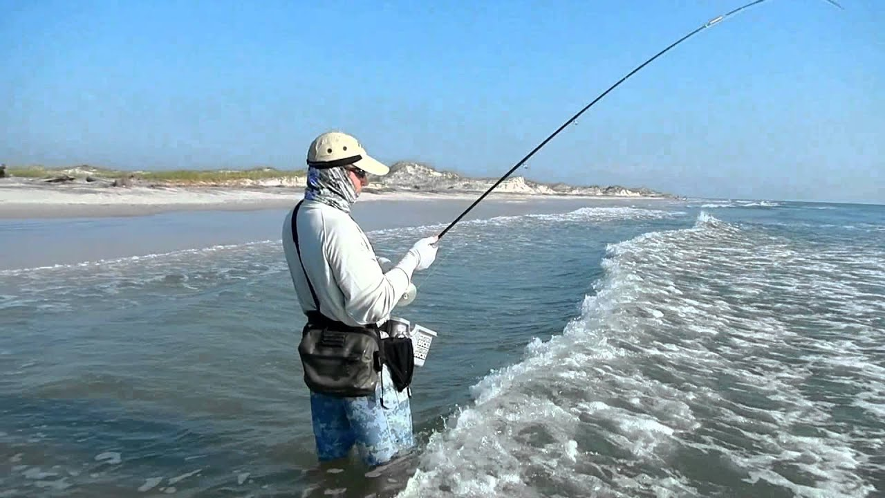 Fly fishing jacksonville surf 1 youtube for Out of state fishing license florida