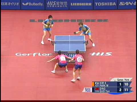 Korean chop-chop (fantastic doubles rallies)
