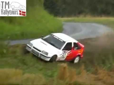 KDAK Rally 2 på fyn 31/7 2004 Sådan kan det gå når der er olie på vejen.