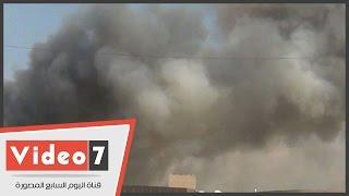 """بالفيديو..شهود عيان على حريق """"المؤتمرات"""": الحريق بسبب ماس كهربائى..والقاعة بدون جهاز إنذار"""