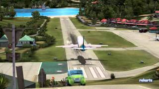 Can a Boeing 737 Land at St. Barths?!?! FS2004 [HD]