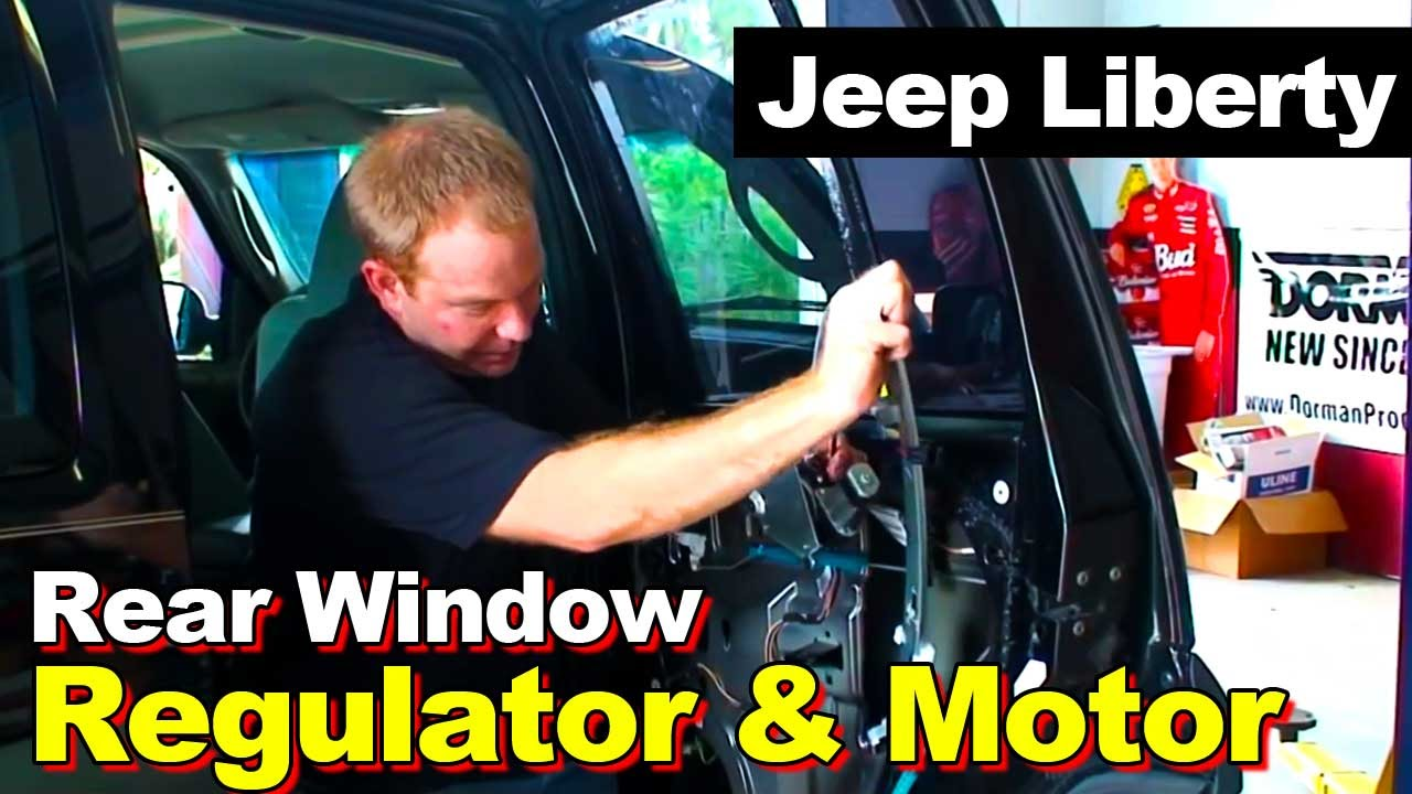 2002 2006 jeep liberty rear window regulator and motor replacement
