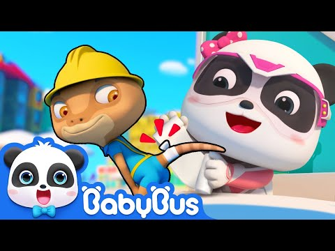 Emergency! Rope is almost Falling down | Super Panda Rescue Team Comlilation | BabyBus Cartoon