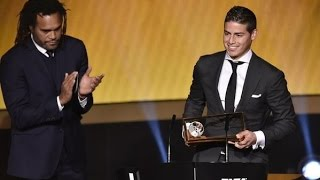 James Rodriguez mejor gol Gala Balon de Oro 2014 | 12/01/2015