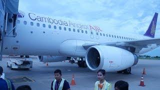 Cambodia Angkor Air Phnom Penh to Siem Reap A320
