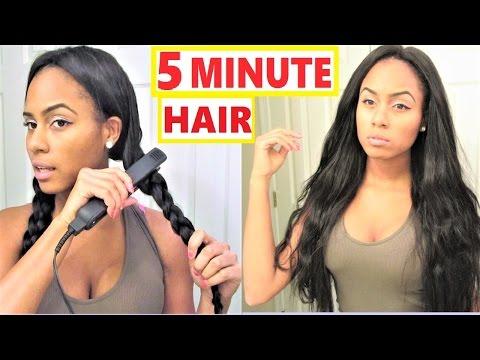 Easy Hair Styles: Wavy Hair Tutorial - Braid Waves   ft. UNice.com
