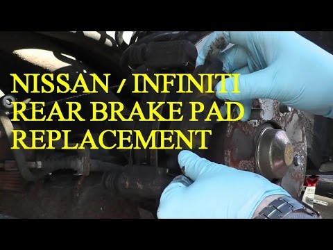 Nissan Maxima / Infiniti Rear Brake Pad Replacement with Basic Hand Tools HD