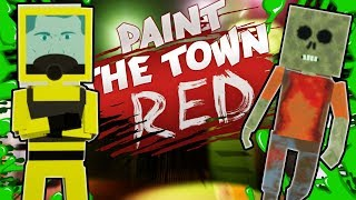 ZOMBIE OUTBREAK ESCAPE?! (Paint The Town Red Gameplay Roleplay) Zombie Apocalypse Survival!