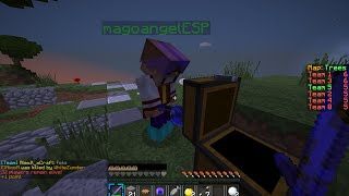 MINECRAFT SKYWARS-Me encontre a magoangelESP :3