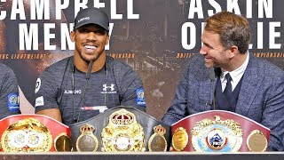 Anthony Joshua vs. Alexander Povetkin Final Press Conference | Matchroom Boxing