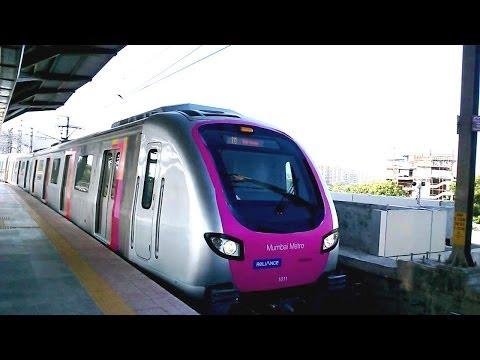 MUMBAI METRO TRAIN RAIL ARRIVAL & DEPARTURE COMPILATION INDIA 2014 [FULL HD]