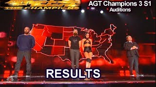 RESULTS  Vote from Superfans The Champions 3 Audition | America's Got Talent AGT