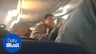 Panic on board flight as it lands on the runway on its nose