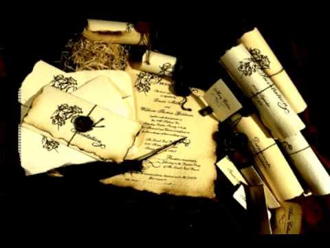 Old English Wedding Invitations - Renaissance Theme - YouTube