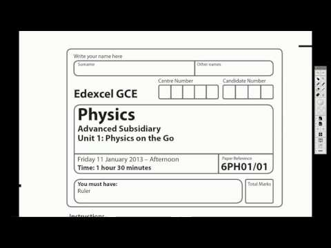 Unit 1: Physics on the Go: Mechanics and Materials - A Level Physics Exam Paper Intro