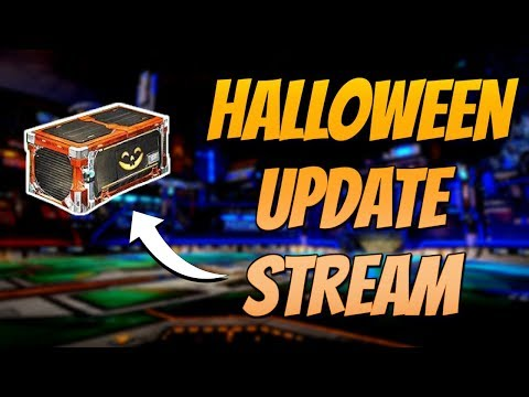 HALLOWEEN UPDATE | New Crate Opening + Competitive Gameplay ( Rocket League Live Stream )
