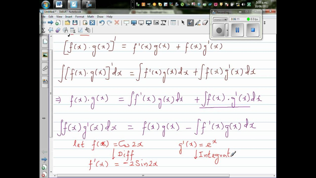 how to solve integral xsin x