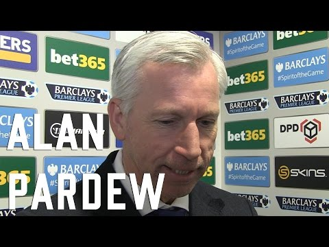Alan Pardew post Stoke Interview