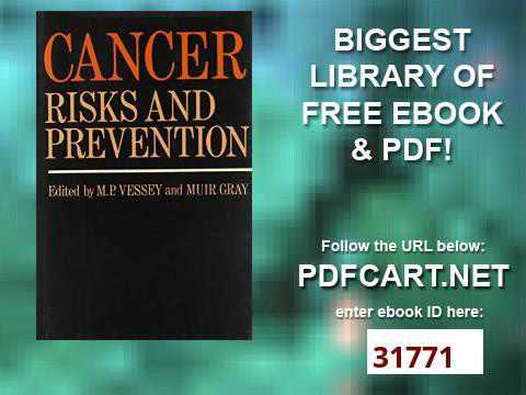Cancer Risks and Prevention Oxford Medical Publications