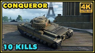 Conqueror - 10 Kills - 8K Damage - World of Tanks Gameplay