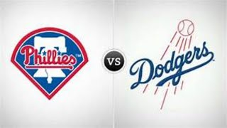 Los Angeles #Dodgers vs Philadelphia #Phillies MLB Live Stream Play by Play & Chat