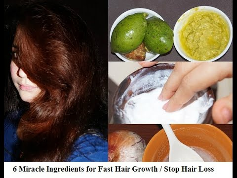 6 Miracle Ingredients for Fast Hair Growth   Stop Hair Loss   Thick Hair   Sneha S