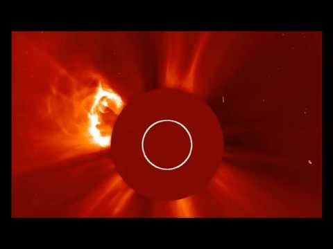 SUN ERUPTS LAUNCHING LARGE CORONAL MASS EJECTION (CME) INTO SPACE TODAY (MAY 1, 2013)