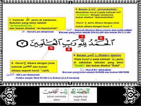 Surah Al fatihah Tajwid yang betul