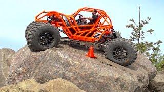 RC ADVENTURES - TANGO - Rear Wheel Steering 🔥 Backyard Rock Course