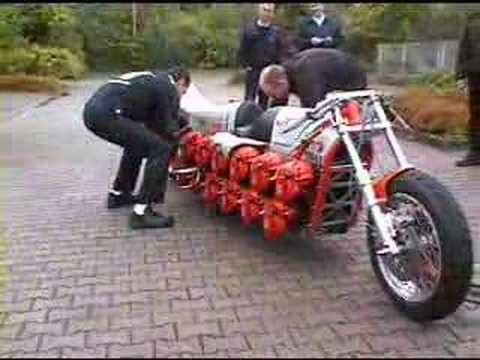 Chainsaw Powered Motorcycle