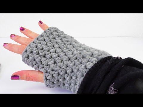 Häkeln Armstulpen | Handschuhe für den Winter | halbe Maschen ...