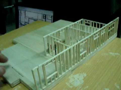 balsa wood house