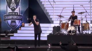 Imagine Dragons performing Warriors live at League of Legends Season 4 World Championship 2014!
