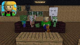 Monster School : BALDI'S HOUSE ESCAPE CHALLENGE - Minecraft Animation